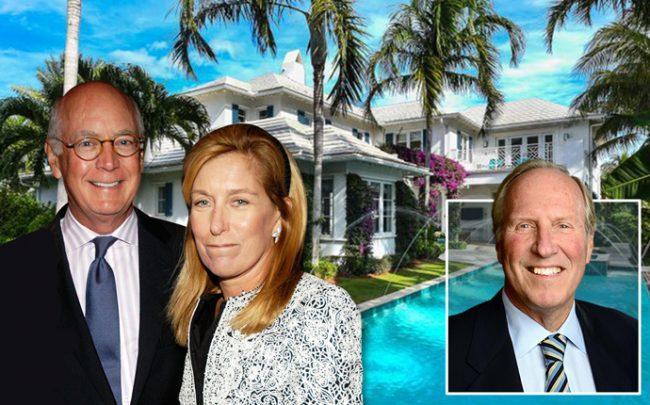 From left: Michael and Suzanne Ainslie with 202 Plantation Road and Ron Terwilliger (Credit: Getty Images and Redfin)