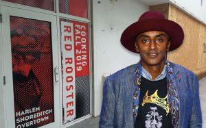 Marcus Samuelsson and exterior shot of Red Rooster construction (Credit: Getty Images)