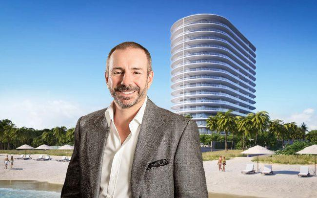 Pierre Pomerleau and a rendering of Eighty Seven Park