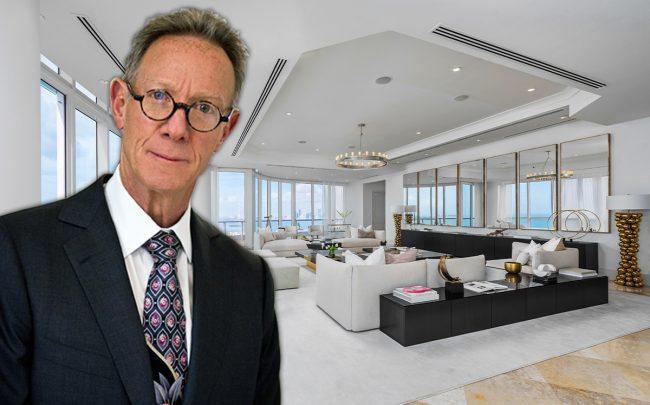 Bruce Eichner and his Continuum penthouse (Credit: Douglas Elliman)