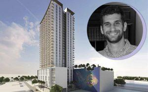 Noah Bachow and a rendering of Flagler Creative