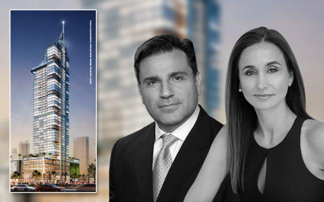 Rendering of Legacy Hotel and Residences with Dan Kodsi and Peggy Olin
