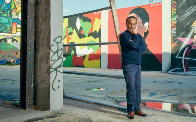 Moishe Mana photographed at the former RC Cola Plant in Wynwood (Photo by Mary Beth Koeth)