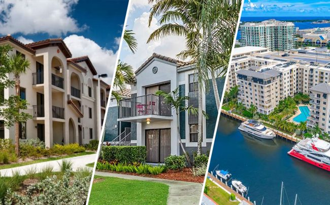 From left: Doral View at 901 Northwest 97th Avenue, 11801 Pembroke Road and 1721 17th Street