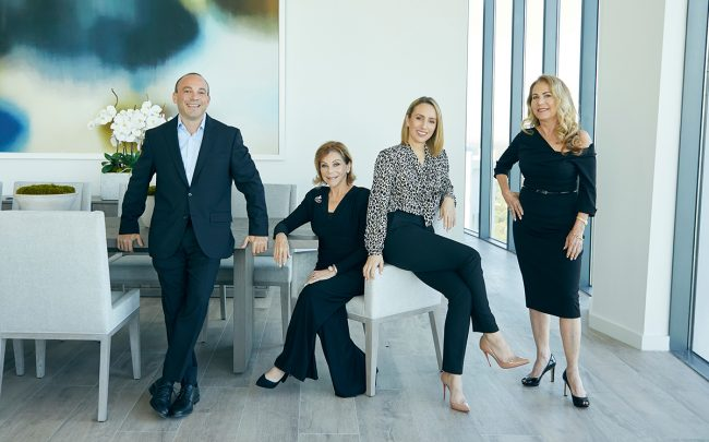 From left: Brian Shapiro, Jo-Ann Forster, Lauren Goodkind Allan and Sande Forster Keil