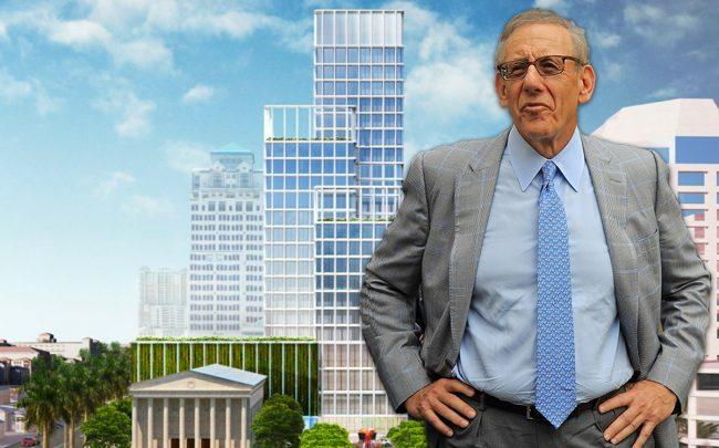 Stephen Ross and a rendering of One Flagler (Credit: Getty Images)