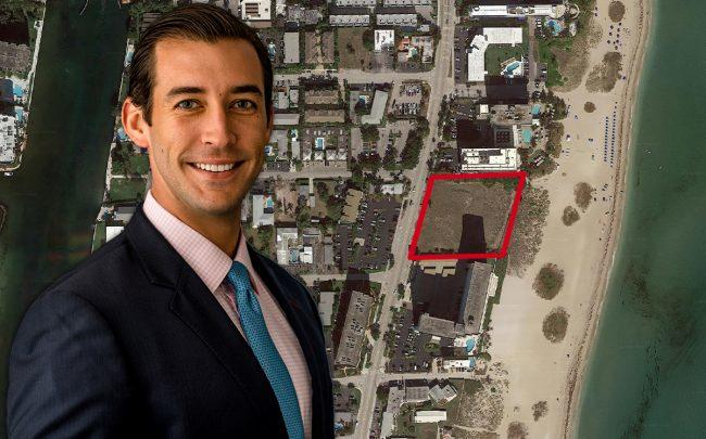 Nick Pérez and the site at 1116 North Ocean Boulevard (Credit: Google Maps)