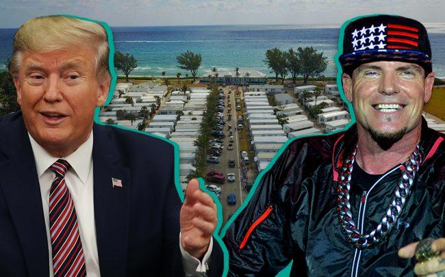 Donald Trump, Vanilla Ice and Briny Breezes (Credit: Getty Images)