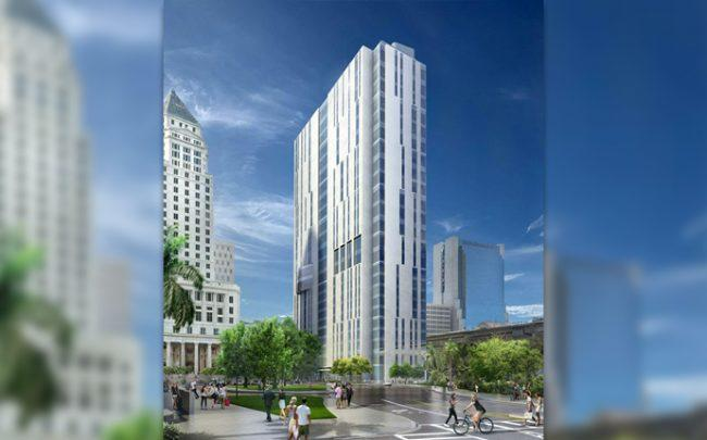Rendering of downtown Miami courthouse to be built by Plenary Group and Miami-Dade County