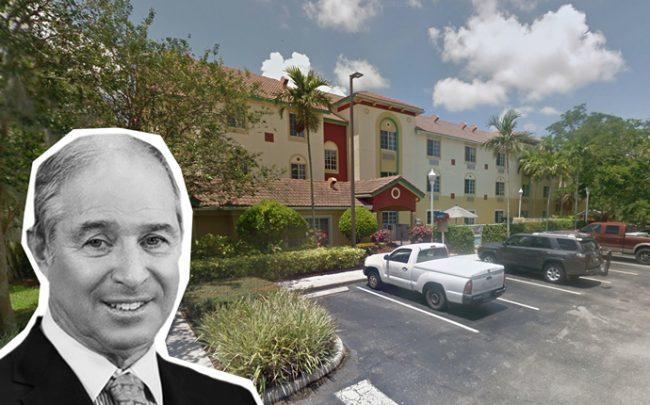 Blackstone CEO Stephen A. Schwarzman and 1545 Three Villages Road (Credit: Google Maps)
