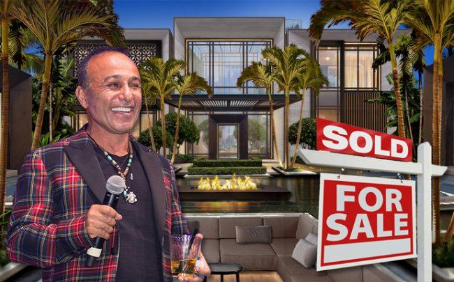 Moishe Mana and a rendering of 420 South Hibiscus Drive (Credit: Getty Images and iStock)