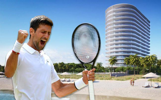 Novak Djokovic and Eighty Seven Park (Credit: Getty Images)