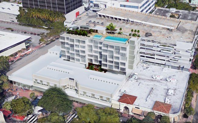 Rendering of hotel addition at Sterling Building (Credit: Kobi Karp Architecture & Interior Design)