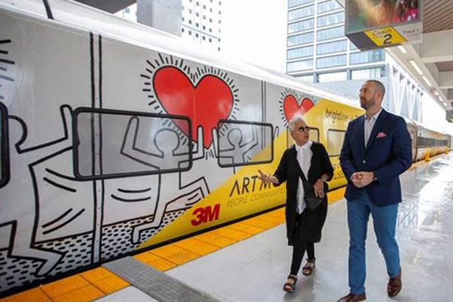Keith Haring wrapped train