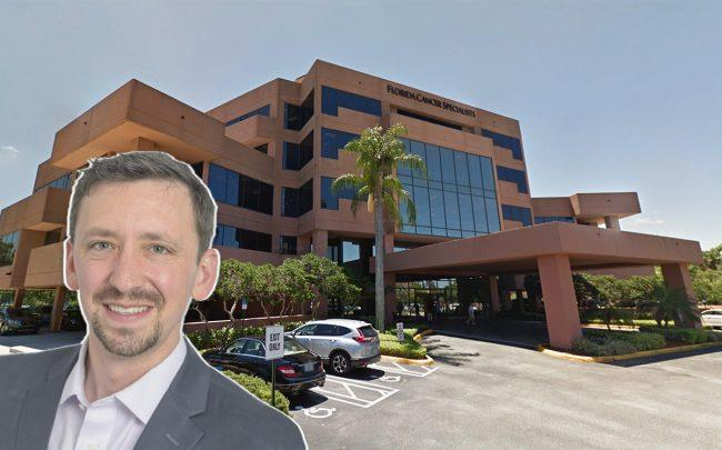 Anchor Health Properties CEO Ben Ochs and 3401 PGA Boulevard (Credit: Google Maps)