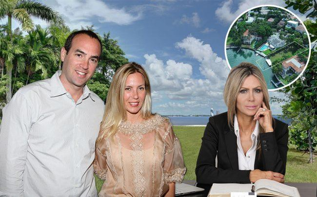 4424 North Bay Road, Karen Stauber (right) and Neil and Jennifer Sazant (Credit: Getty Images)