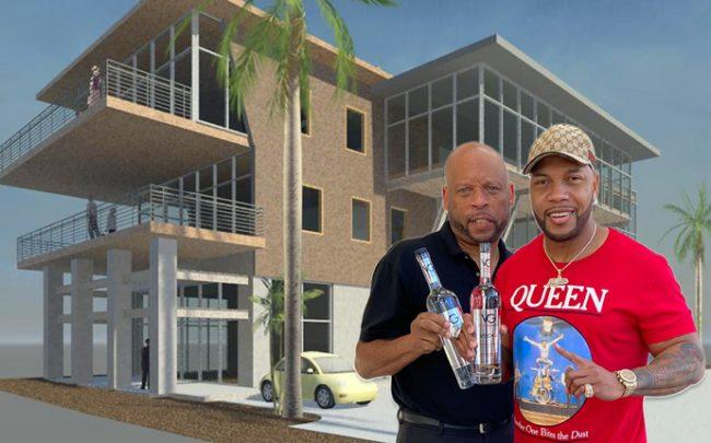Rendering of the project, Victor G. Harvey, Sr. and Flo Rida