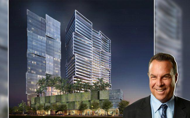 One West Palm rendering and Jeff Greene