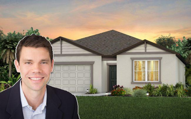 Brent Baker and a Pulte single-family home