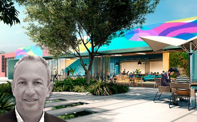 David Edelstein and a rendering of the Wynwood site