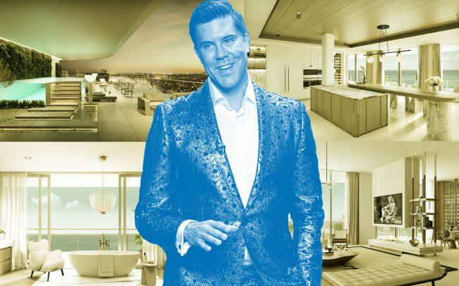 Renderings of the penthouse and Fredrik Eklund (Credit: Four Seasons Private Residences Fort Lauderdale)