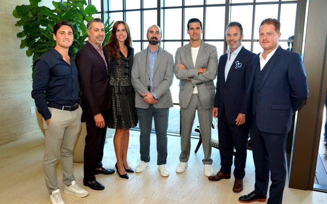 Alex Sapir's sales team (from left: Mick Duchon, Eloy Carmenate, Tara West, Alex Sapir, Oren Alexander, Jay Philip Parker, Dean Bloch)