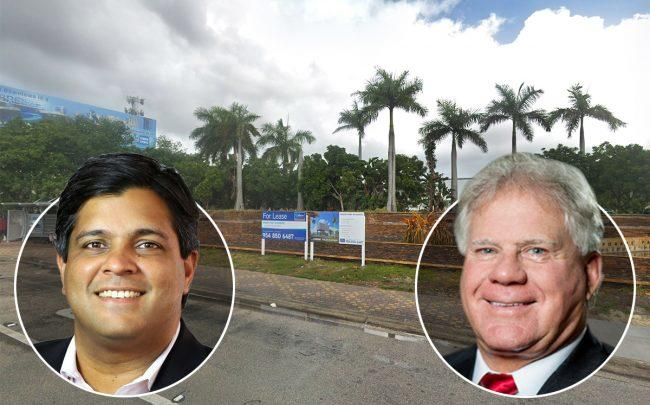 Dev Motwani, Johnny Allison, and 2401 West Broward Boulevard (Credit: Google Maps)