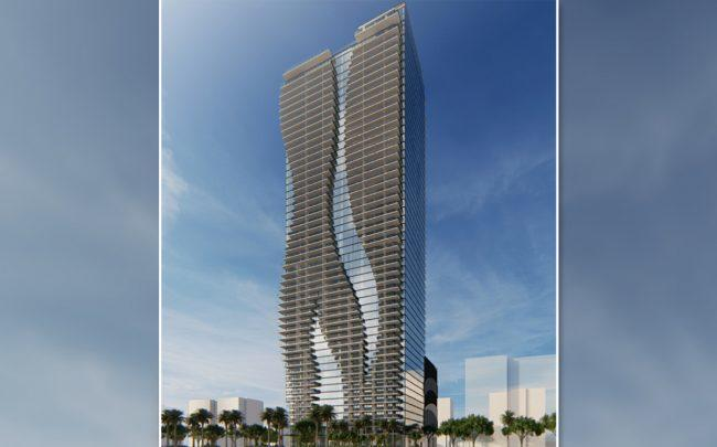 A rendering of the Miami Worldcenter apartment building