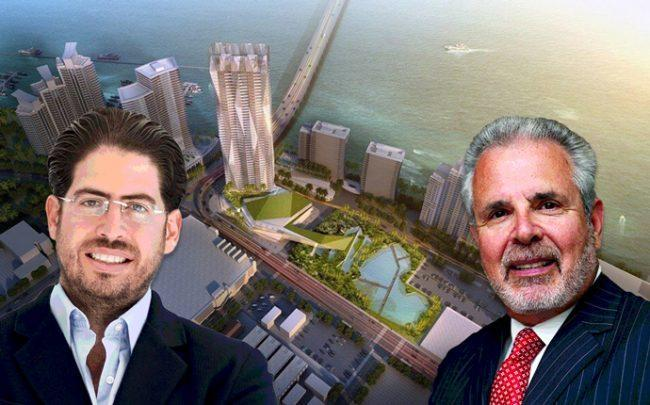 David Martin, Russell Galbut, and a 500 Alton rendering (Credit: The Next Miami)