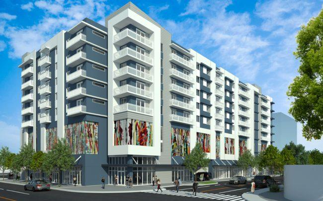 A rendering of the Allapattah apartment building