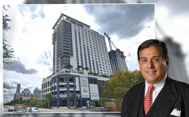 Howard Wurzak's development firm is suing over delays and defects at the double branded Dalmar and Element hotel