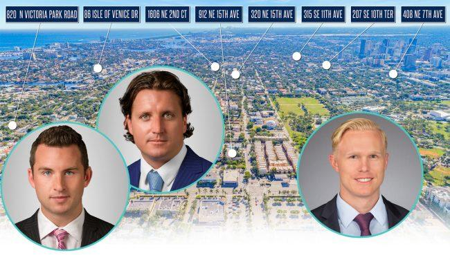 Joseph P. Thomas, Adam Duncan and Tyler Carbonelli with the Fort Lauderdale properties
