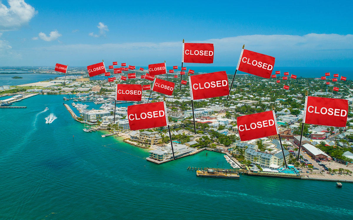 A photo illustration of Key West (Credit: iStock)
