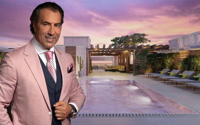 Shoma Group CEO Masoud Shojaee and a rendering of Ten30 South Beach
