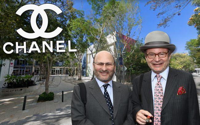 Alain and Gerard Wertheimer with the Chanel space on 41st Street (Credit: Chanel, Julien Hekimian/WireImage/Getty Images, and Google Maps)