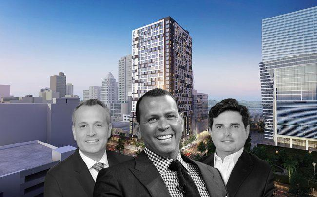 Rendering of Grand Station project, Oscar Rodriguez, Alex Rodriguez, and Ricardo Vadia (Credit: Michael Loccisano/Getty Images)