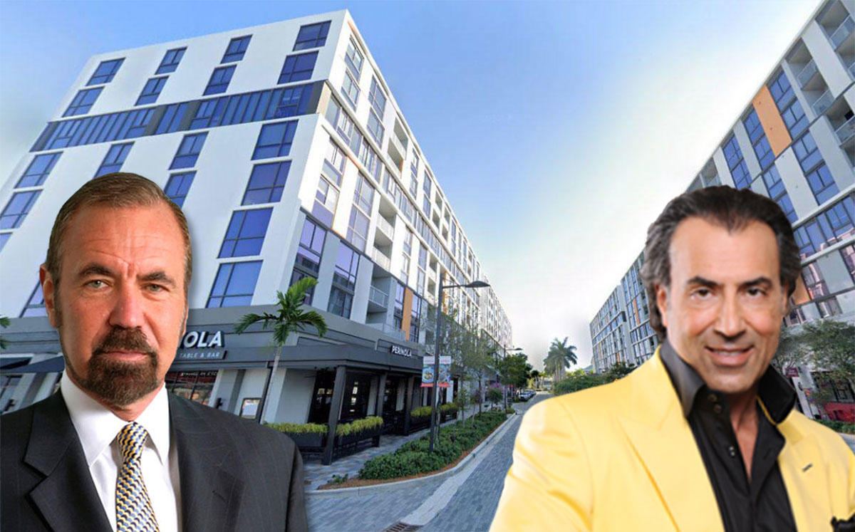 Jorge Perez and Masoud Shojaee with  the Flats Apartments at CityPlace Doral (Credit: Google Maps)