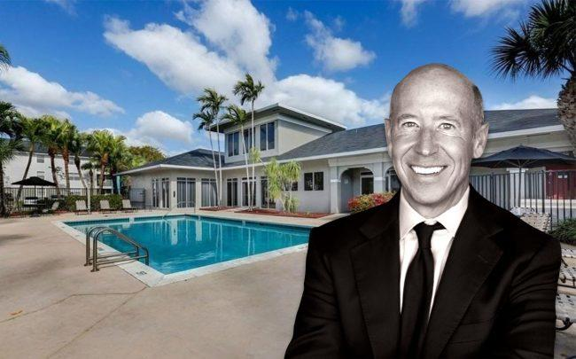 Barry Sternlicht and the Villa Biscayne Apartments (Credit: Highmark Residential/VHT Studios)