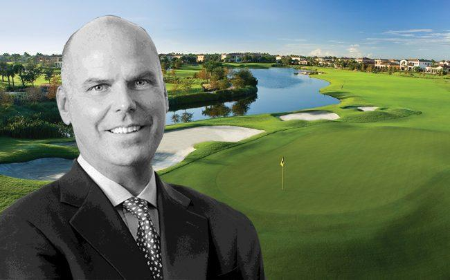 Toll Brothers CEO Douglas C. Yearley Jr. and Parkland Golf & Country Club (Credit: Facebook)