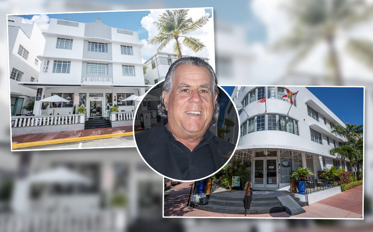 Alan Lieberman with Chesterfield Hotel South Beach at 855 Collins Avenue and Riviera Loft Hotel at 2000 Liberty Avenue