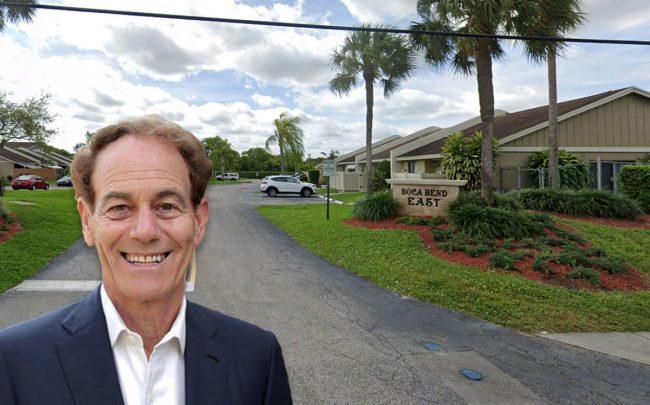 Richard Paul Richman, founder and chairman of the Richman Group and 9260 Boca Vue Drive in Boca Raton (Credit: Google Maps)
