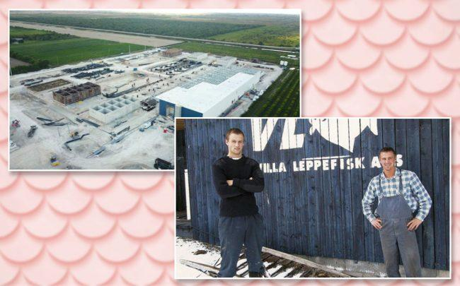Johan Andreassen and Bjorn-Vegard Lovik with the facility
