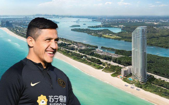 Alexis Sánchez and the Ritz-Carlton Residences, Sunny Isles Beach (Credit: Claudio Villa - Inter/Inter via Getty Images)