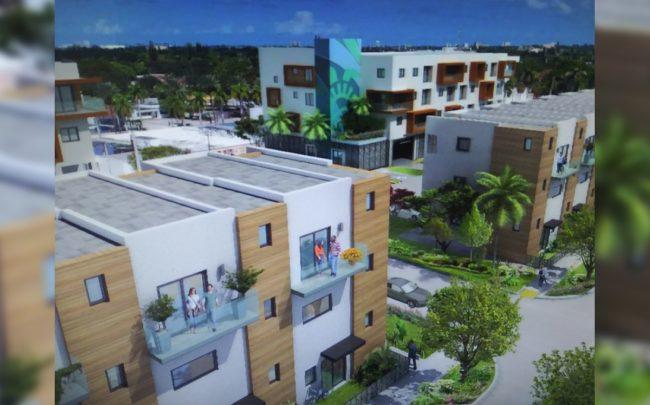 A rendering of the project at 2717 Van Buren Street