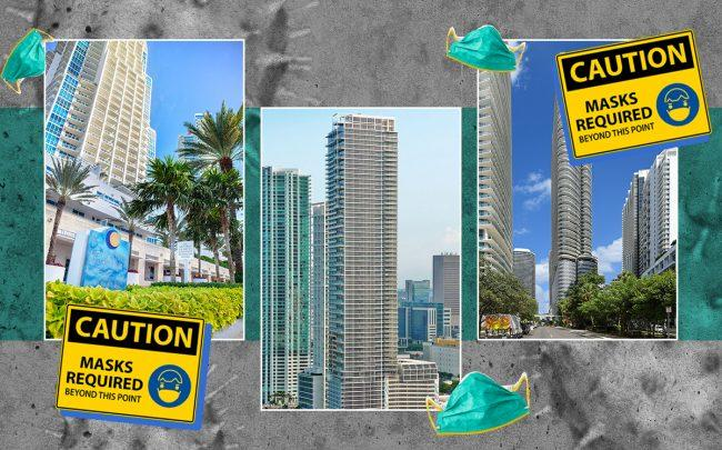 Continuum on South Beach, Marquis Miami and Brickell Flatiron (Credit: Continuum by Kike Flores Photo, Marquis by Marc Averette/Wikimedia, Brickell via Wikimedia Commons, iStock)