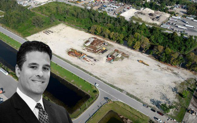 Easton Group's Jose Hernandez-Solaun and and aerial of the site