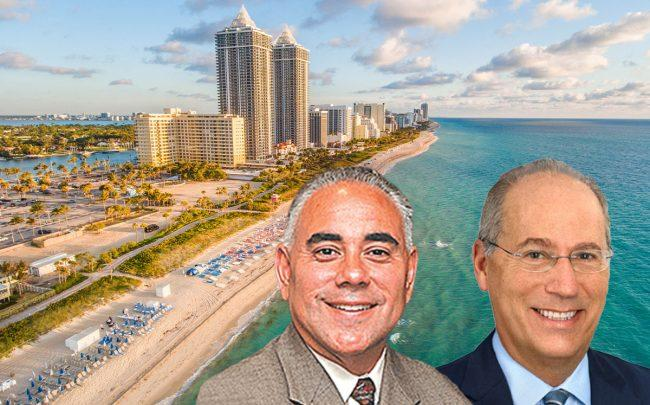 City Manager Jimmy Morales and Miami Beach Mayor Dan Gelber