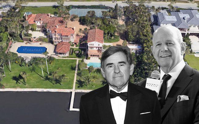 Peter Brant, Robert S. Taubman, and 1820 South Ocean Boulevard (Credit: Sylvain Gaboury/Patrick McMullan, John Sciulli, via Getty Images, and Google Maps)