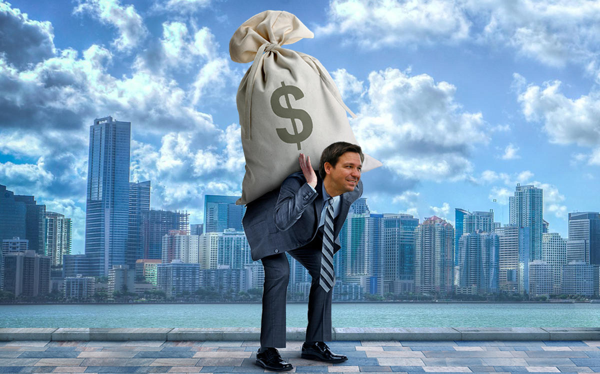 Photo illustration of Ron DeSantis (Getty, iStock)
