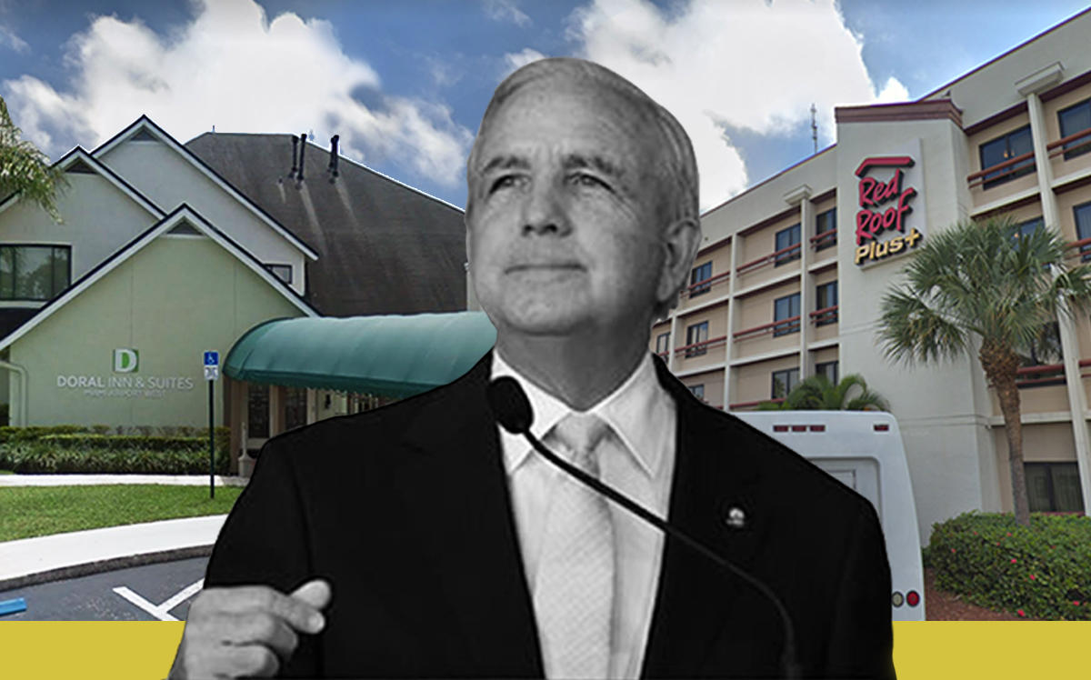 Doral Inn and Suites, Red Roof Inn Miami Airport and Mayor Carlos Gimenez (Google Maps, Office of the Mayor)